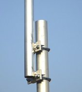 Verlängerung des Antennenmastes um einen Meter