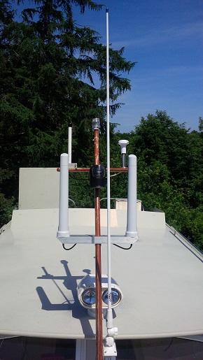 LTE Antennen auf dem Boot