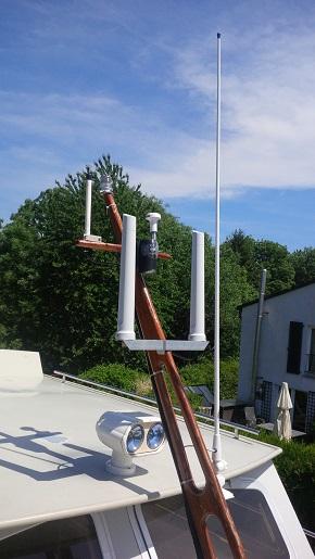 WLAN Antennen auf einer Yacht