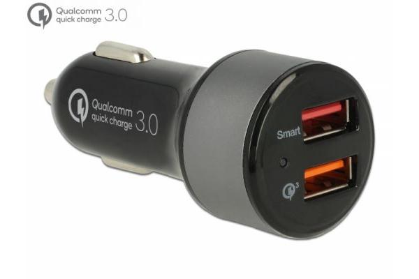 Navilock Kfz Ladeadapter 2 x USB Typ-A mit Qualcomm® Quick Charge 3.0